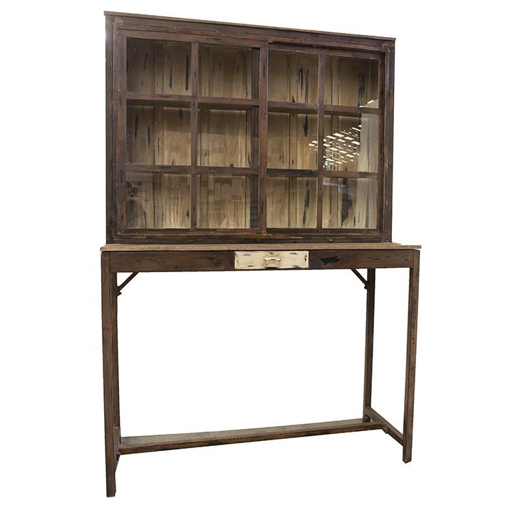 Mueble Expositor Dwdk Trasbarra O Mueble Expositor Vitrina Cleo 150 Vintage Madera