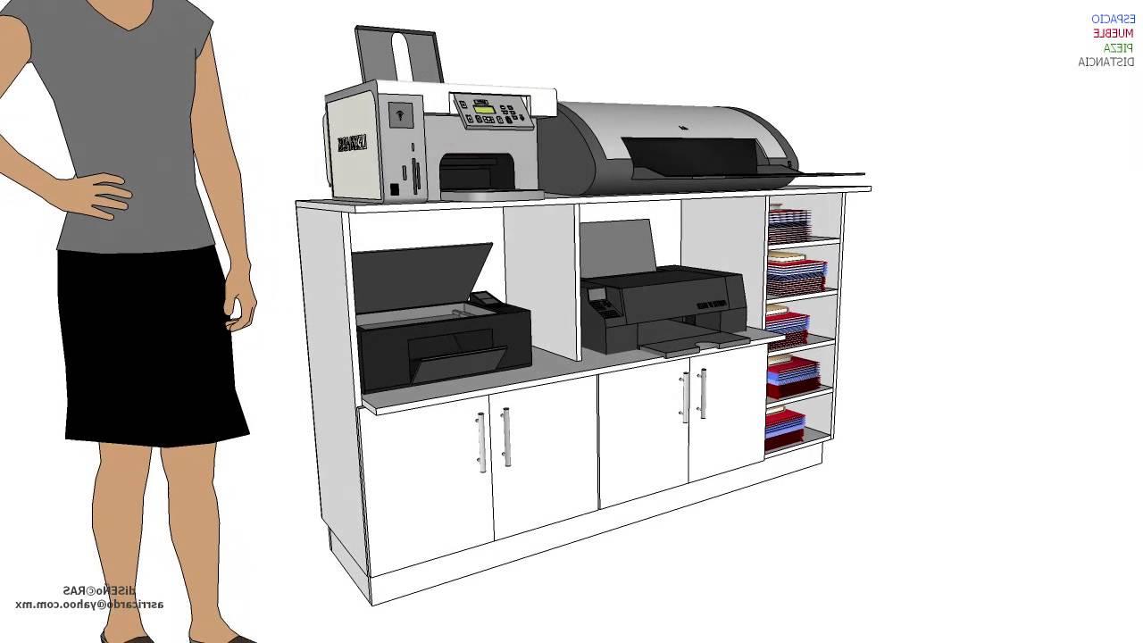 Mueble Impresora 4pde Mueble Impresoras Mod 2 Youtube