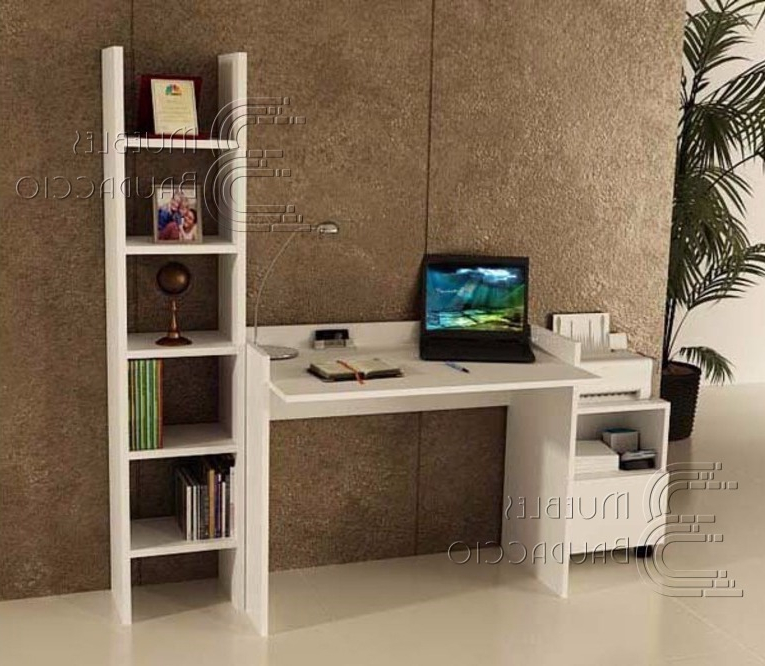 Mueble Impresora Kvdd Escritorio Con Librero Y Mueble De Impresora En Melamina S 330 00
