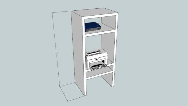 Mueble Impresora Mndw Mueble Para Impresoras 3d Warehouse