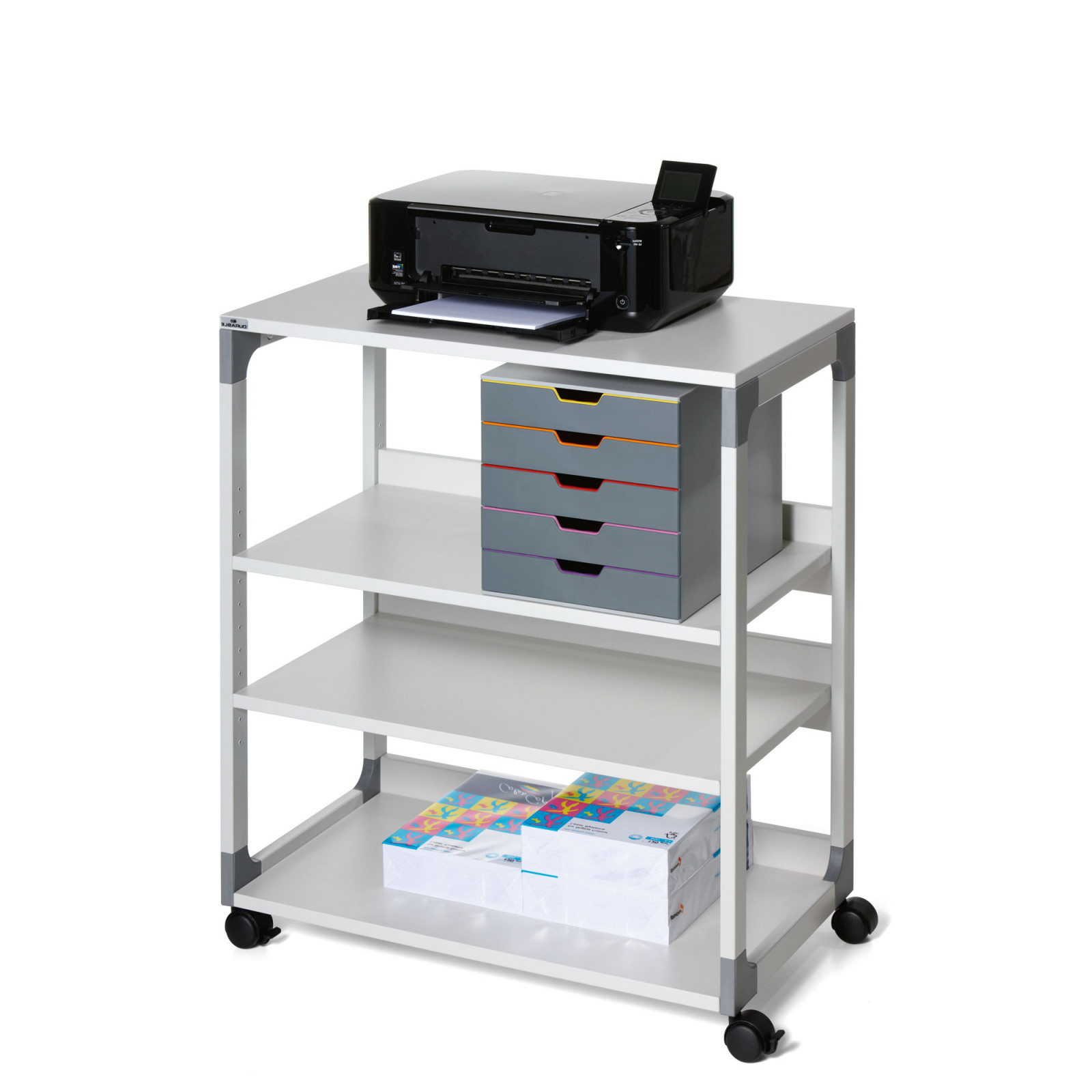 Mueble Impresora Nkde Mueble Impresora 4 Niveles Catà Logo De Mobiliario De Oficina Lyreco