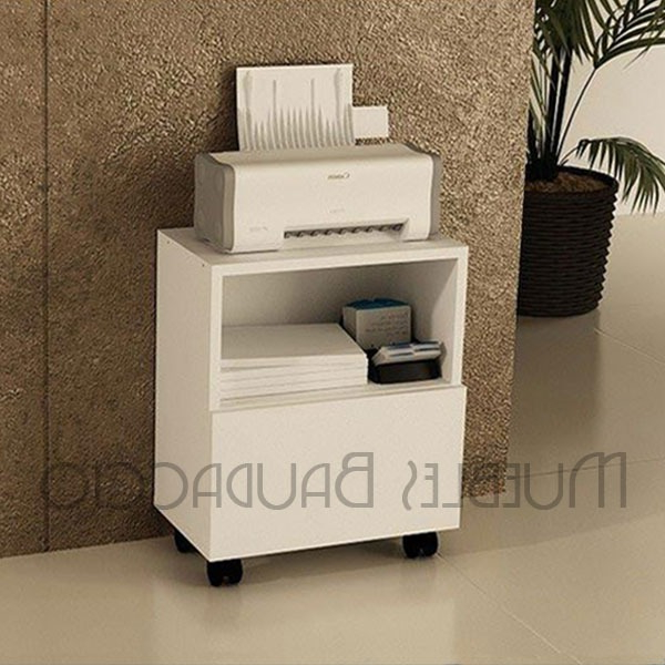 Mueble Impresora Q5df Mueble Para Impresora Con Ruedas En Melamina S 140 00 En Mercado