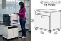 Mueble Impresora Rldj Mueble Para Fotocopiadoras Equipos Multifuncion Impresoras De 50x50x60