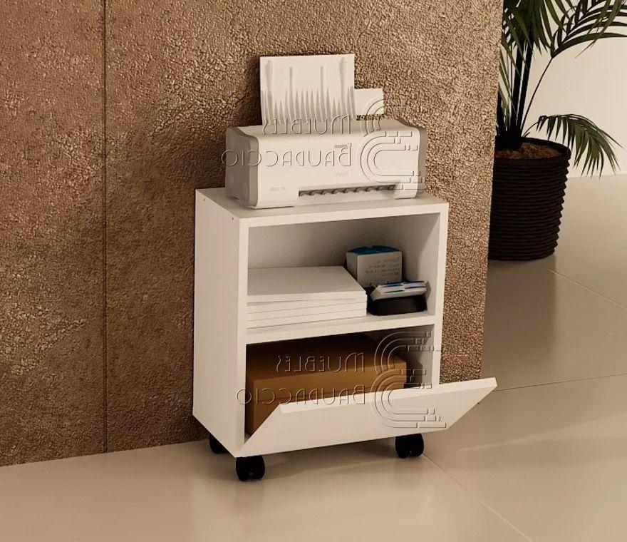 Mueble Impresora Zwdg Mueble Para Impresora Con Ruedas En Melamina Lima