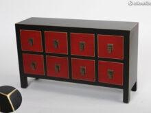 Mueble Japones J7do Mueble Japonà S U oriental De 8 Cajones Mb Rojo Y Negro