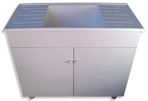 Mueble Lavadero T8dj Mueble Lavadero Mdf Pileta 100 1 Metro 48 Cm Fibra Mesada