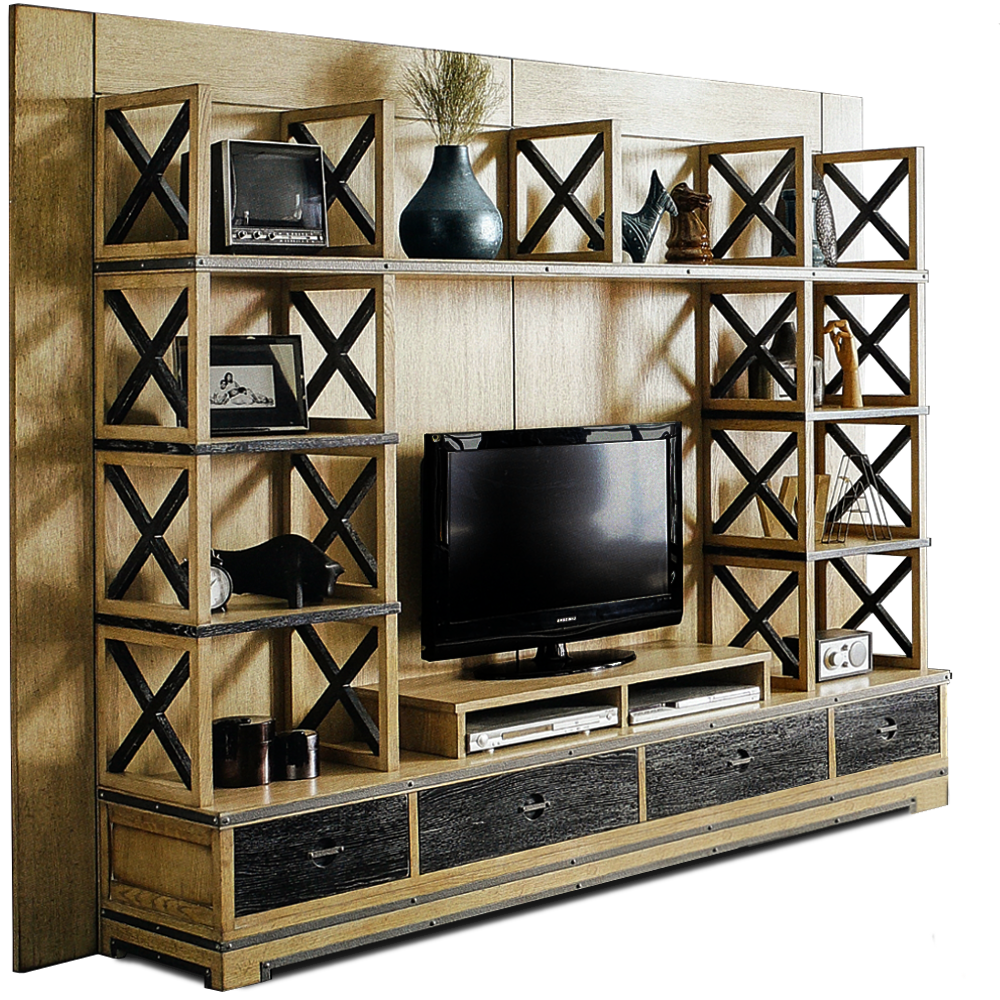 Mueble Libreria Zwd9 Mueble Libreria Industrial Tribeca En Betty Co