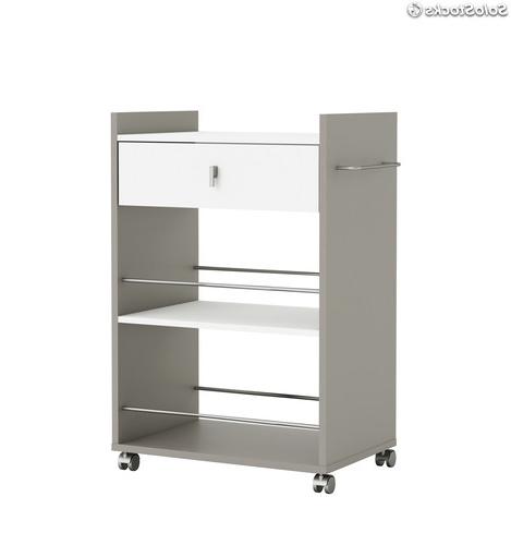 Mueble Microondas Q0d4 Mueble Para Microondas Con Ruedas Y Dos Espacios Abiertos Color