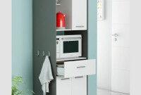 Mueble Microondas Qwdq Mueble Alto Cocina Microondas Color Blanco Y Gris 180×60 Miroytengo
