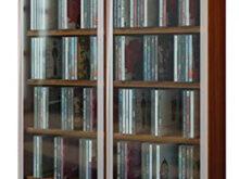Mueble Para Dvd 87dx Vcm Galerie Mueble Cd Dvd Para 300 Piezas Nogal 91 5x60x18 Cm