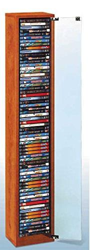 Mueble Para Dvd S5d8 Mueble Para Dvd De Madera Con Puerta De Cristal Capacidad Para 64