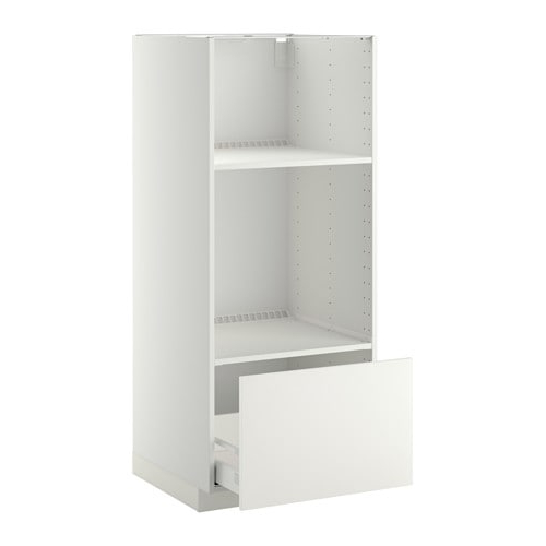 Mueble Para Horno Y Microondas S5d8 Metod Maximera Armario Alto Horno Microondas Cajà N Blanco Hà Ggeby