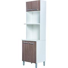 Mueble Para Horno Y Microondas Y7du Mueble Para Microondas 4 Puertas 60x207x48 5 Cm Mdp sodimac