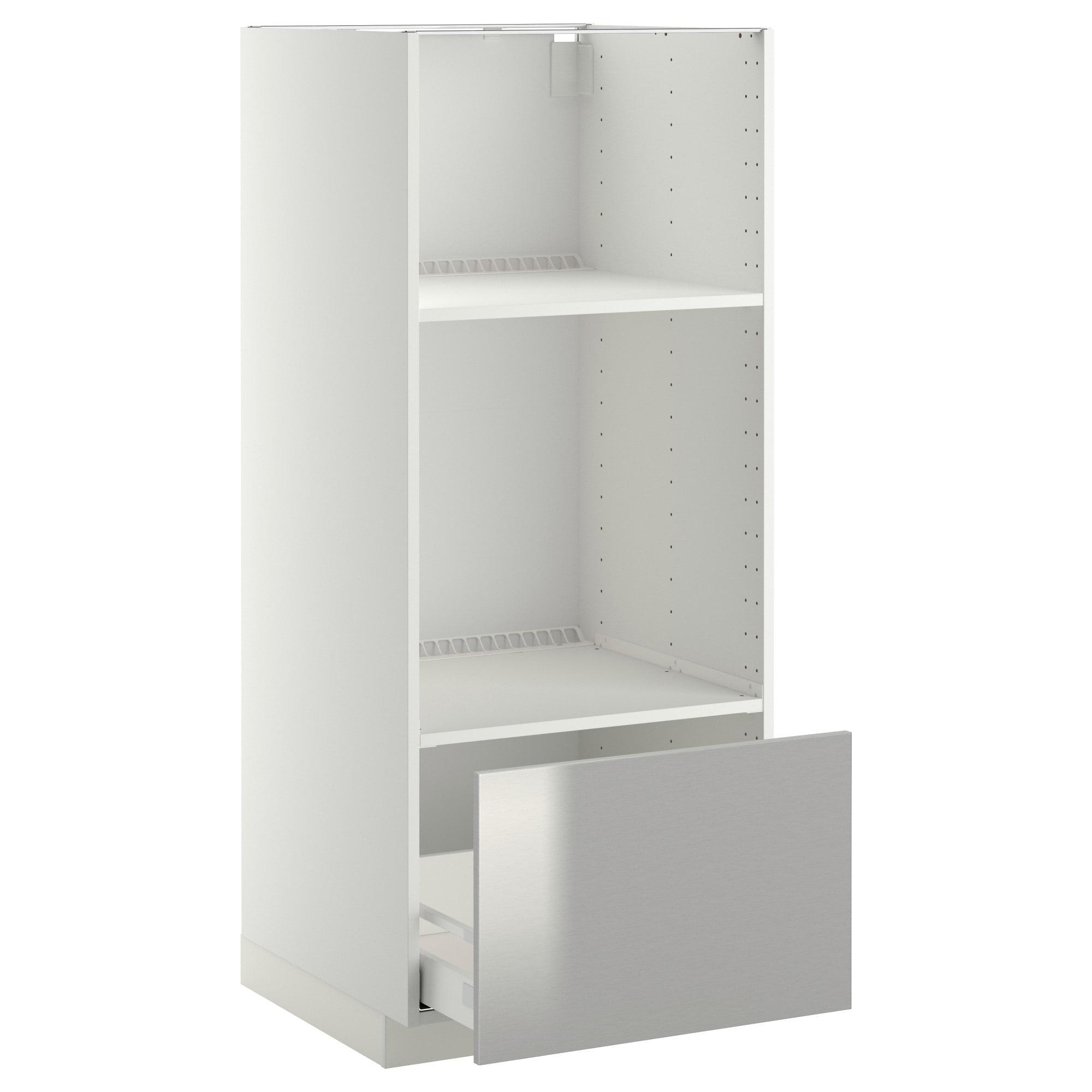 Mueble Para Horno Y Microondas Zwdg Metod Maximera Armario Alto Horno Microondas Cajà N Blanco Grevsta Ac