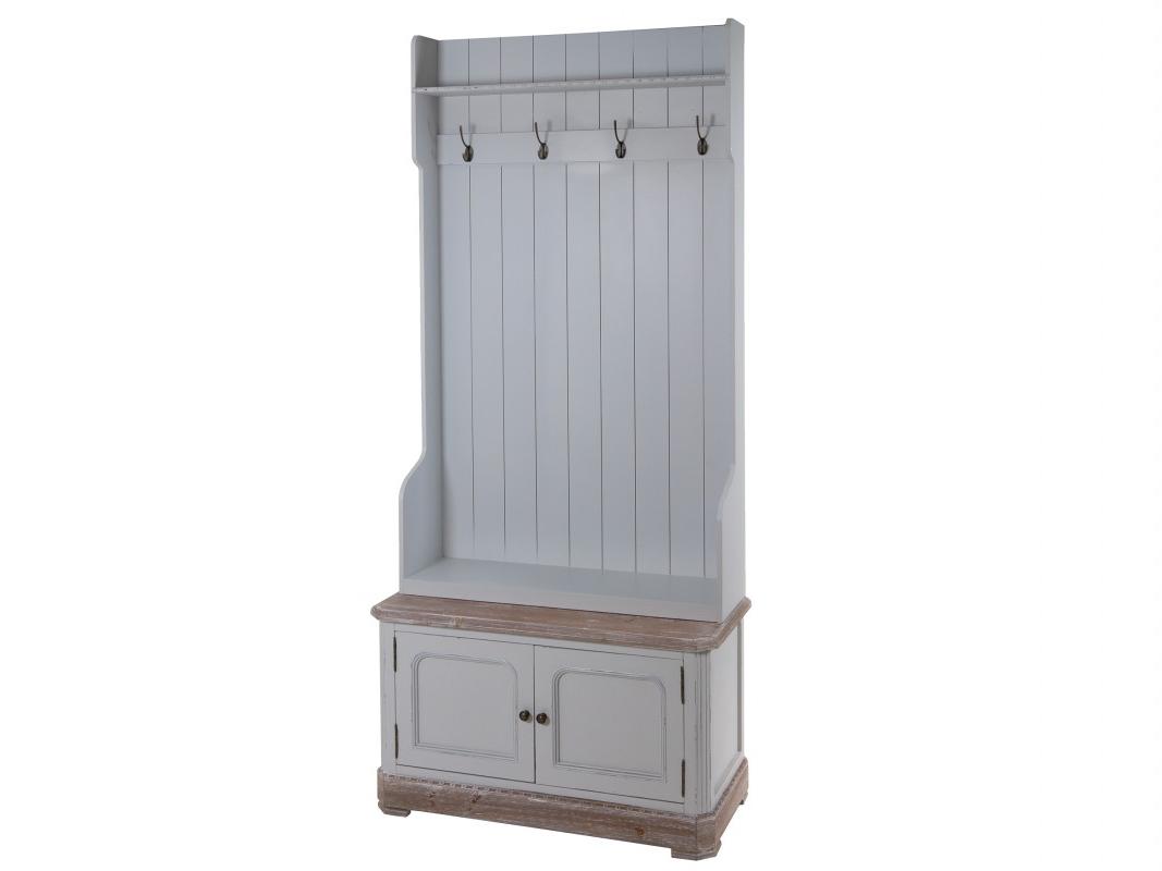 Mueble Perchero Entrada Thdr Mueble Perchero Recibidor Con Puertas Y Estante Vintage