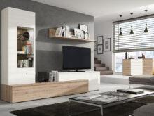 Mueble Salon Blanco Y Madera 3ldq Mueble Salon Tv Edor Aparador Madera Melamina Moderno Economico