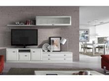 Mueble Salon Blanco Y Madera D0dg Mueble De Salà N Modular Blanco