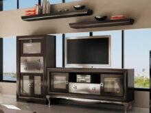 Mueble Salon Wengue Ipdd Salà N Modular Con Lejas Acabado En Color Wenguà Y Plata