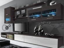 Mueble Salon Wengue Q0d4 Salà N Moderno Edor Con Luces Leds Mueble Salon Color Blanco