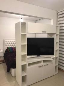 Mueble Separador De Ambientes E9dx Mueble Divisor Ambientes Modular Rack Tv Led Lcd Giratorio