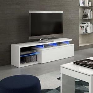 Mueble Televisor Mndw Mueble Televisor Con Luces Leds Salà N O Sala Blanco Brillo