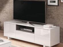 Mueble Televisor O2d5 Mueble De 3 Puertas Tv Blanco Brillo