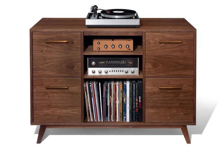 Mueble tocadiscos Drdp atocha Design Muebles Para tocadiscos Y Discos De Vinilo