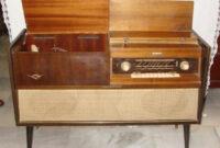Mueble tocadiscos E6d5 Antiguo Mueble Radio tocadiscos Picú Aà O Prar Radios
