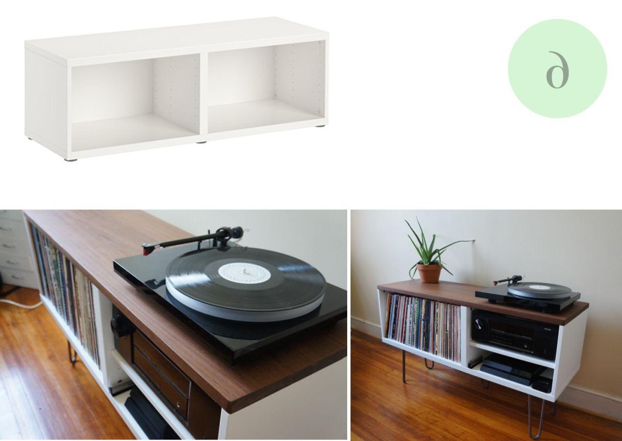 Mueble tocadiscos E9dx Ikea Hacks Stoliki Rtv Ikea Ikea Hack Y Furniture