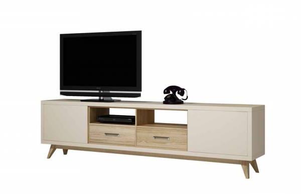 Mueble Tv Barato Tqd3 Mueble Tv Retro B Crema Dismobel