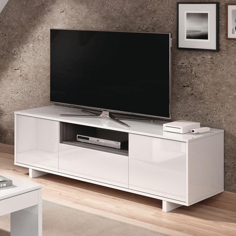 Mueble Tv Blanco J7do Mueble De 3 Puertas Tv Blanco Brillo