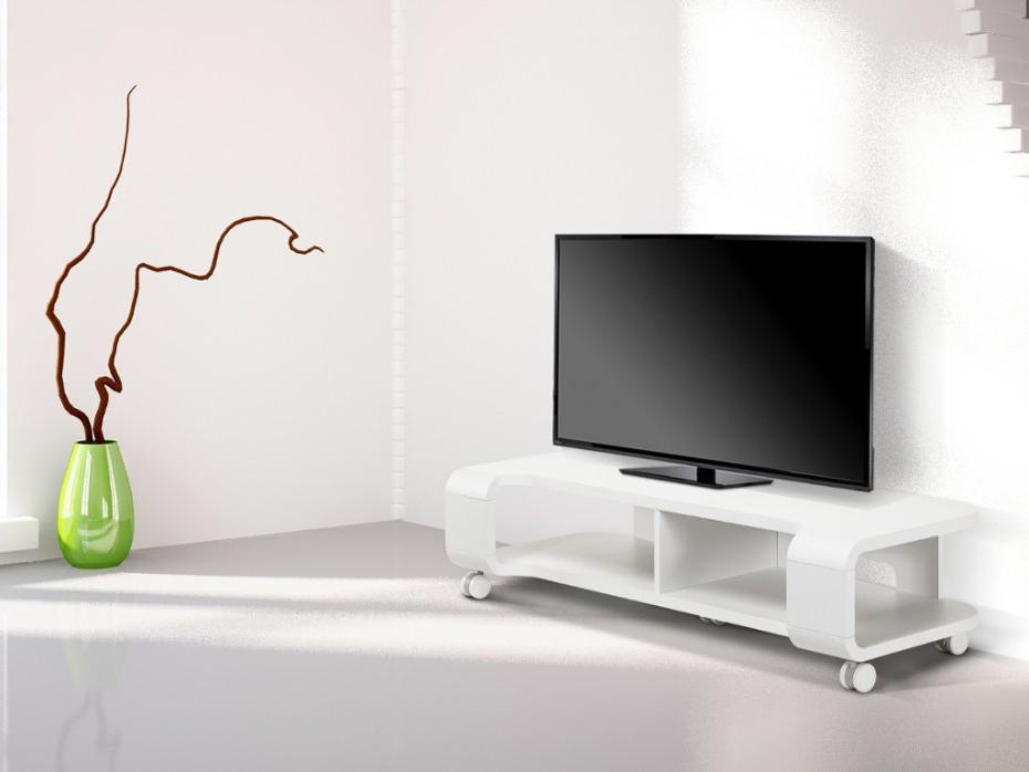 Mueble Tv Con Ruedas Fmdf Mueble Tv Con Ruedas Color Blanco Harmonica