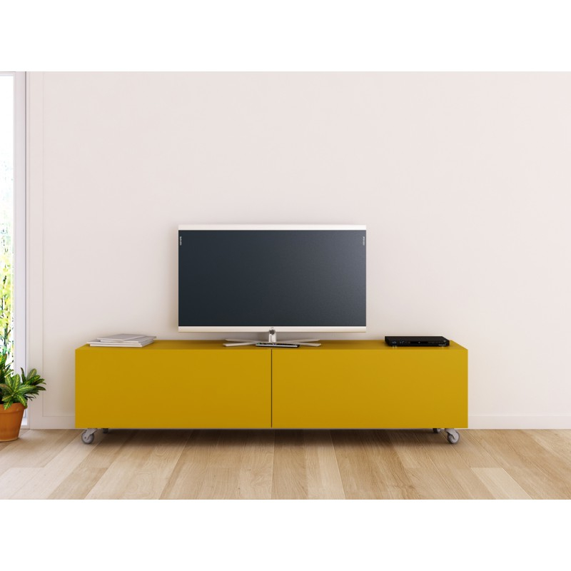 Mueble Tv Con Ruedas O2d5 Mueble Para Tv Lisboa Mueble Acabado Lacado Y Base Con Ruedas