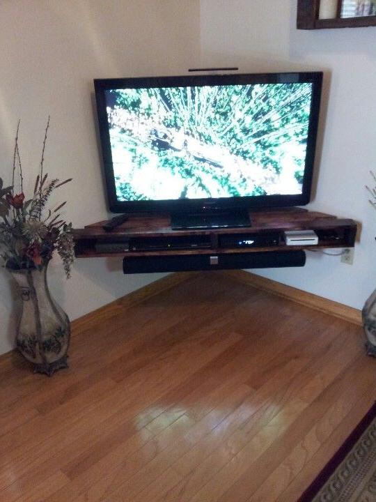Mueble Tv Esquinero 8ydm Muebles De Palets Para La Televisià N Proyectos Que Debo Intentar