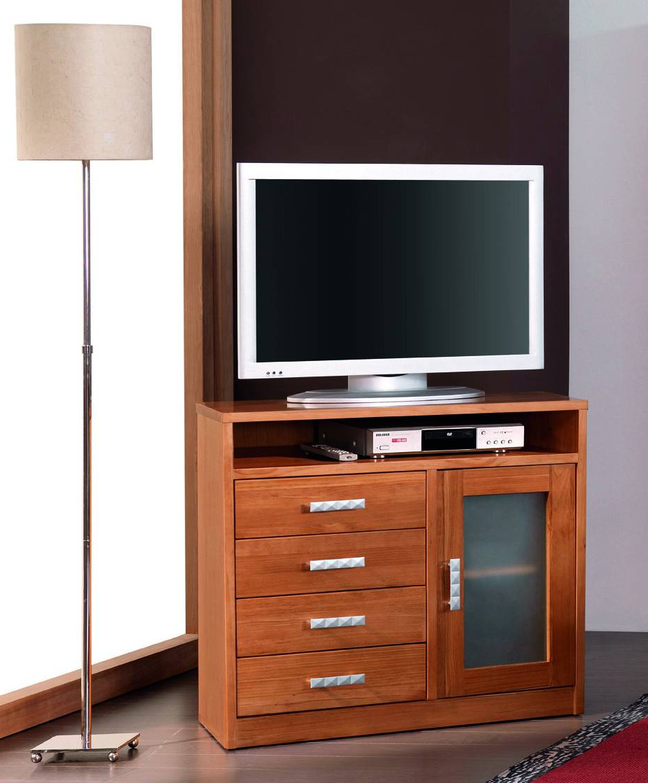 Mueble Tv Estrecho Zwd9 Mueble Tv 1 Puerta 4 Cajones Salà N Edor Provenzal Pino Online