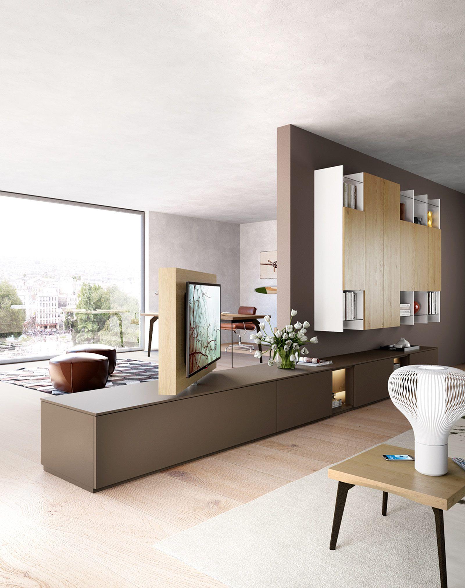 Mueble Tv Giratorio 360 S1du Porta Tv Girevole orientabile Free View 360 Sky Dettaglio Prodotto