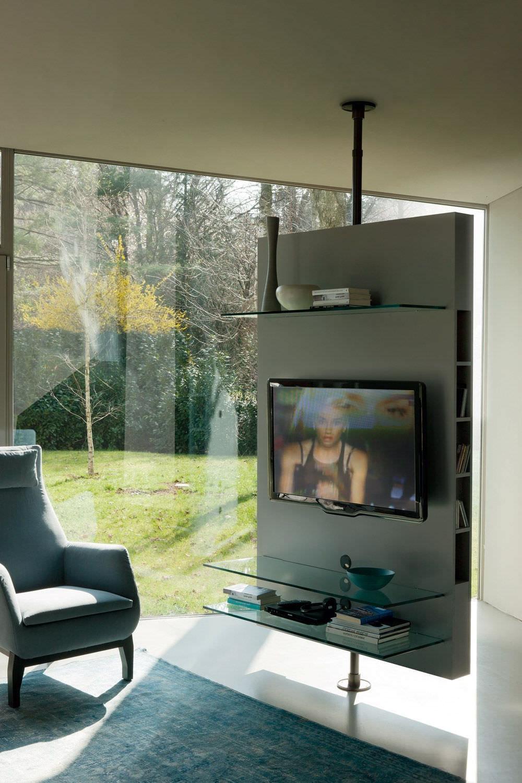 Mueble Tv Giratorio 360 Tldn Mueble De Televisià N Moderno Giratorio De Madera Mediacenter by