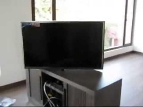 Mueble Tv Giratorio 360 Tldn Sistema Giratorio Para Tv Casamecanica Youtube