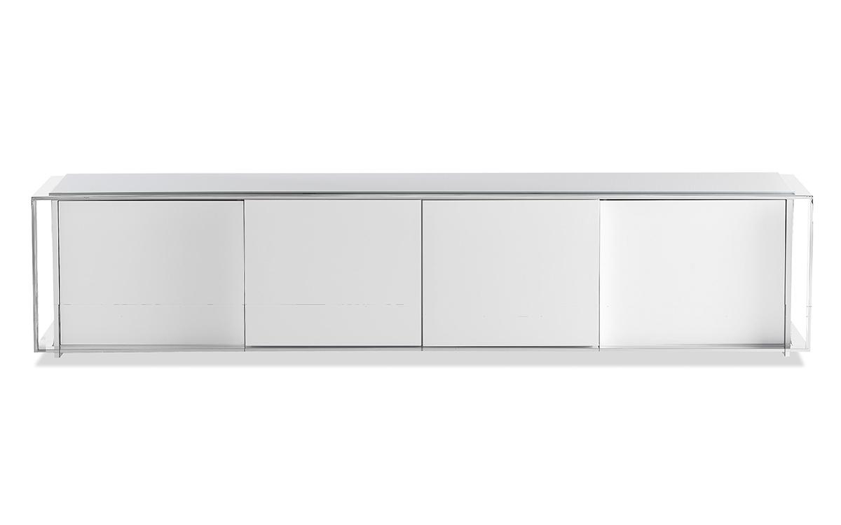 Mueble Tv Lacado Blanco Y7du Mueble Tv De 4 Puertas En Lacado Blanco Brillo Muebles Mago