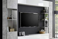 Mueble Tv Pared 8ydm Mueble Tv Pared Color Blanco Y Gris Design Fino 2