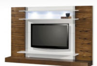 Mueble Tv Pared Budm Mueble De Tv Pared Madera Y Blanco