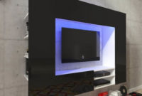 Mueble Tv Pared Kvdd Centro De Entretenimiento Mueble Tv De Pared Con Led 169 2 Cm Negro