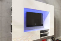 Mueble Tv Pared Whdr Centro De Entretenimiento Mueble Tv De Pared Con Led 169 2 Cm Blanco