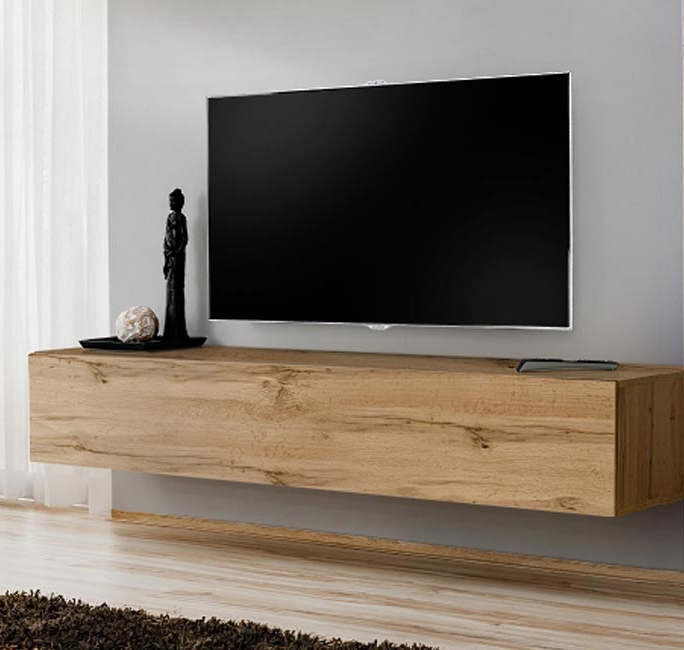 Mueble Tv Roble 0gdr Mueble Tv Modelo Berit 120×30 En Color Roble