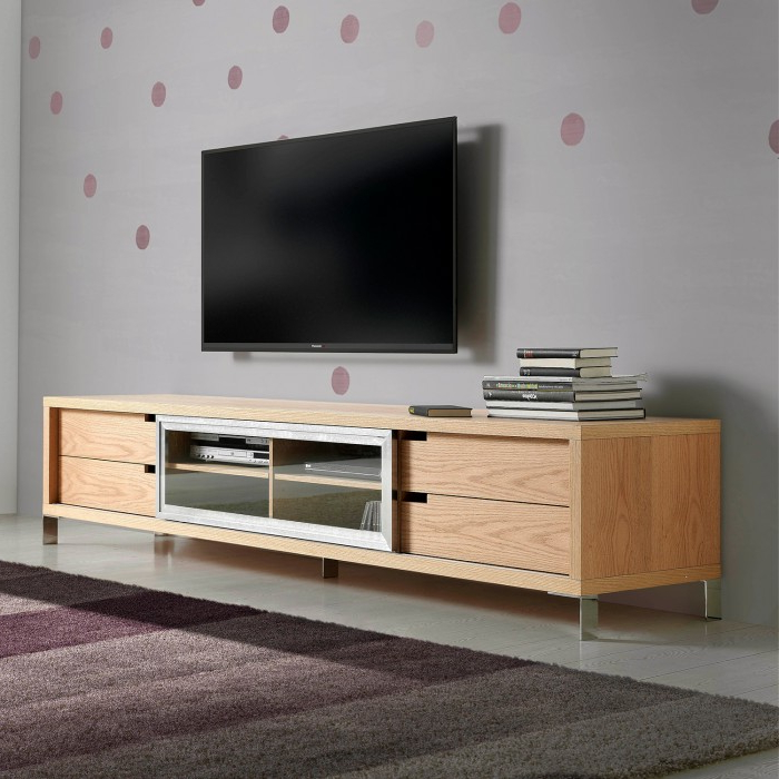 Mueble Tv Roble 8ydm Mueble De Tv Moderno Renaix Roble Demarques
