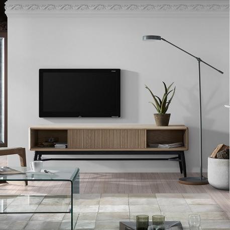 Mueble Tv Roble Tldn Mueble Tv Estilo Industrial Madera De Roble