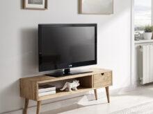 Mueble Tv Vintage Zwd9 Mueble Tv Diseà O Vintage Con Un Cajà N Y Un Estante Madera Maciza