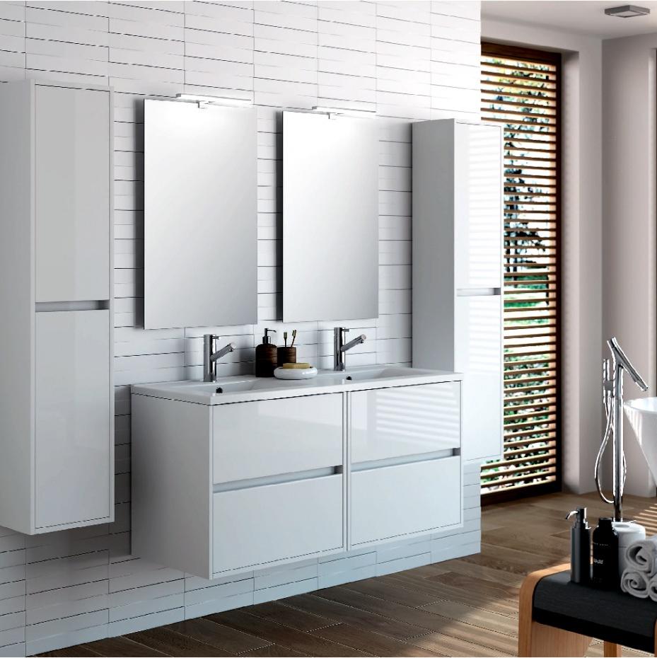 Muebles Baño Blanco Mndw Mejor De Muebles Bano Gris Alto Brillo 05 Mueble Ba C3 B1o Noja 1200