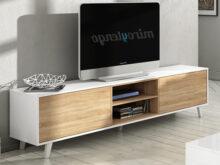 Muebles Bajos De Salon Y7du Mueble Tv De Salon Modulo Bajo Y Estante nordico Blanco Y Roble