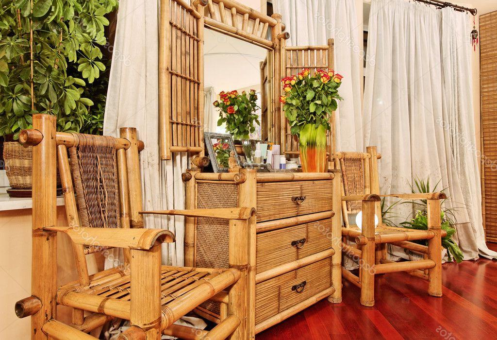 Muebles Bambu Txdf Muebles De tocador De Madera De Bambú à Tnicos Fotos De Stock